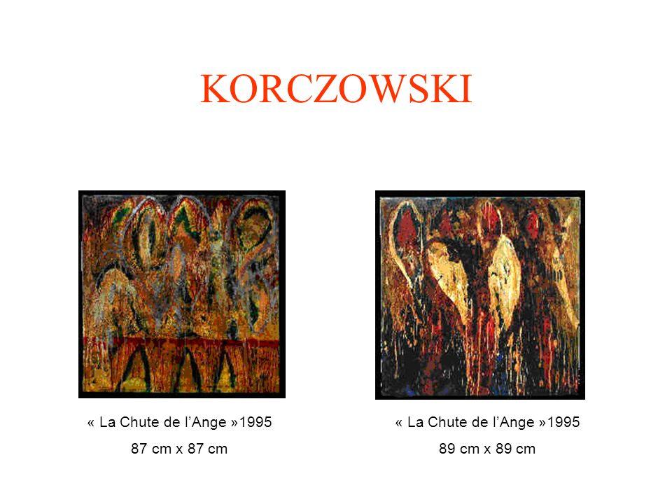 KORCZOWSKI Te dwa obrazy zatytułowane «Upadek Anioła» pochodzą z dużej wystawy zatytułowanej La Chute de LAnge w paryskiej Galerii Askeo w 1996 roku.