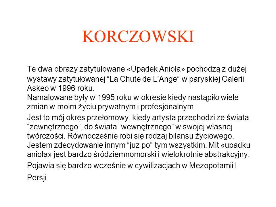 KORCZOWSKI Korczowski 1990 «Amour a Mort» (Desert Love) olej, technika mieszana na plotnie, 92 cm x 65 cm obraz z serii «Amour a Mort« wystawionej w Nowym Jorku w 1991 w Galerii Frank Bustamante