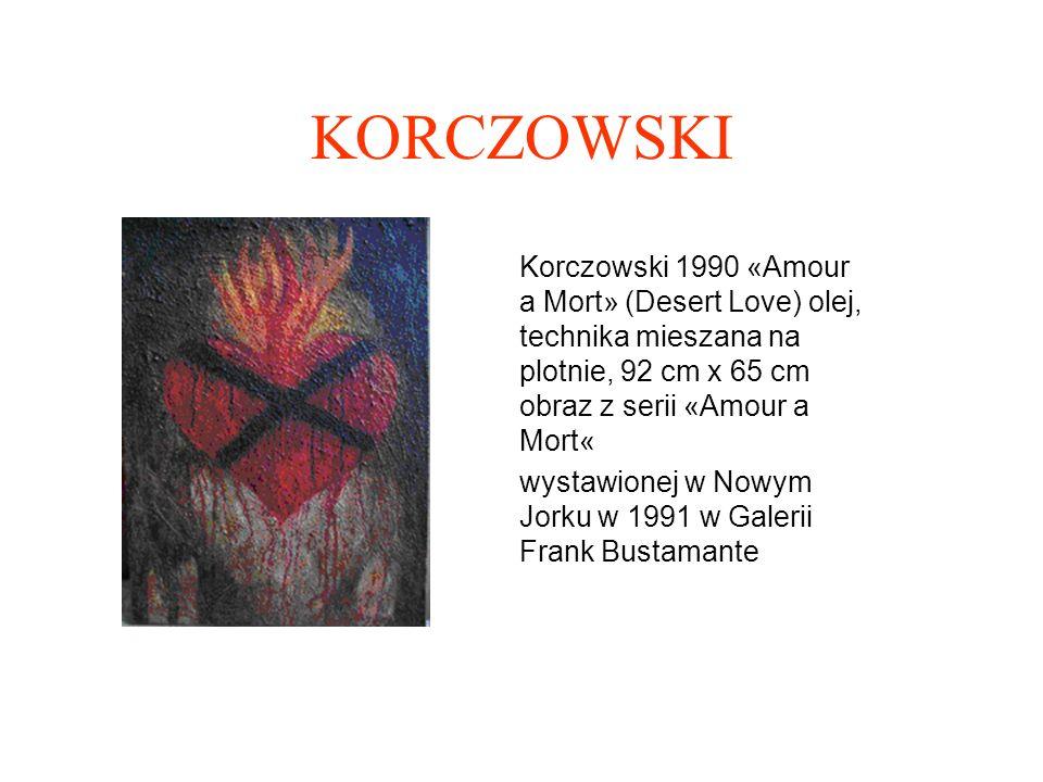 KORCZOWSKI Korczowski 1992 Cible (Cel) olej na płótnie 92cm x 60 cm Obraz z serii Sky Tales wystawionej w Nowym Jorku w 1992 w Galerii Frank Bustamante