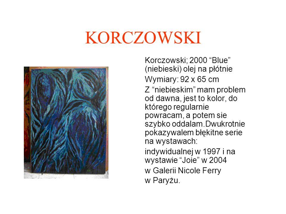 KORCZOWSKI Korczowski « Piramida NIEBIESKA» 1988 olej na płótnie 150x150cm Mam szczególna sympatie do tego obrazu.