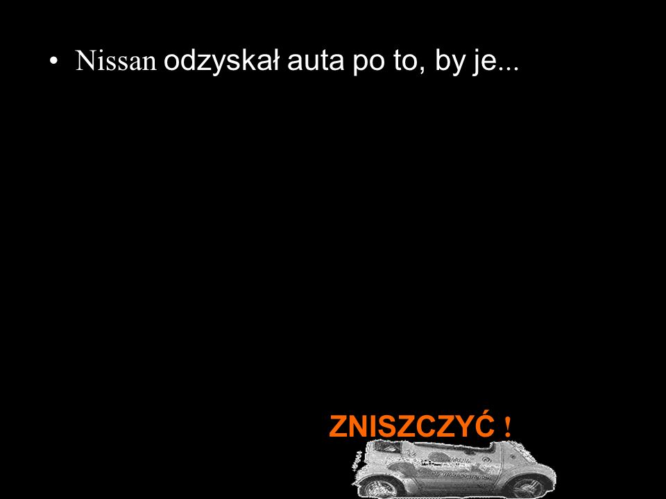 Władze miejskie chciały te samochody kupić, lecz Nissan odmówił.