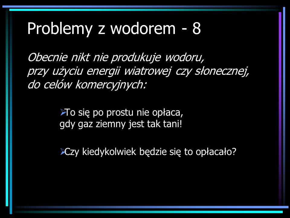 Problemy z wodorem - 8 To się po prostu nie opłaca, gdy gaz ziemny jest tak tani! Czy kiedykolwiek będzie się to opłacało? Obecnie nikt nie produkuje