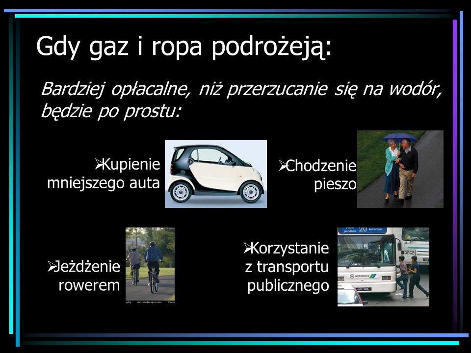 Gdy gaz i ropa podrożeją: Bardziej opłacalne, niż przerzucanie się na wodór, będzie po prostu: Kupienie mniejszego auta Chodzenie pieszo Jeżdżenie row