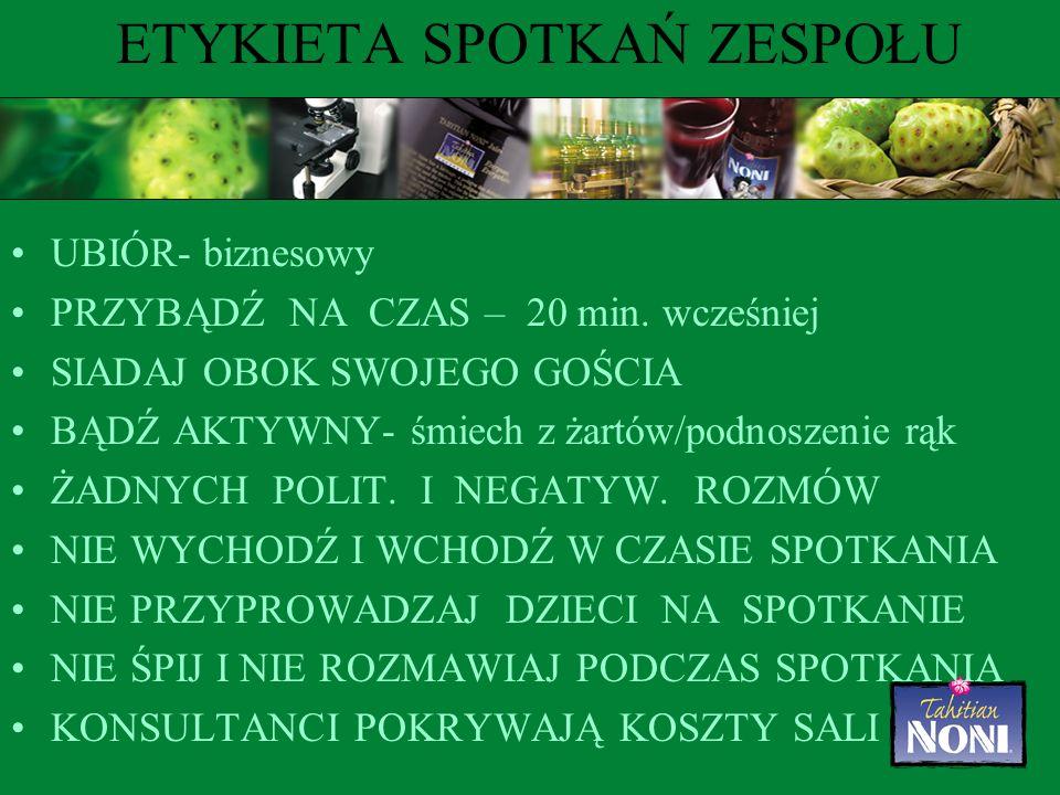 ETYKIETA SPOTKAŃ ZESPOŁU UBIÓR- biznesowy PRZYBĄDŹ NA CZAS – 20 min.