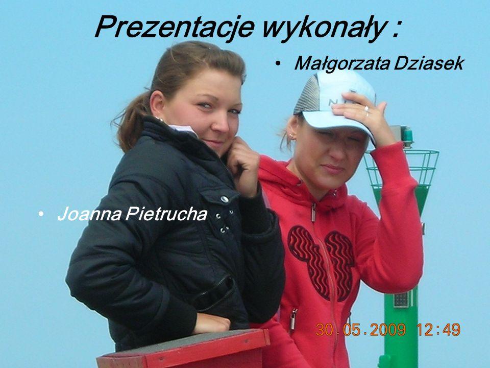 Prezentacje wykonały : Joanna Pietrucha Małgorzata Dziasek