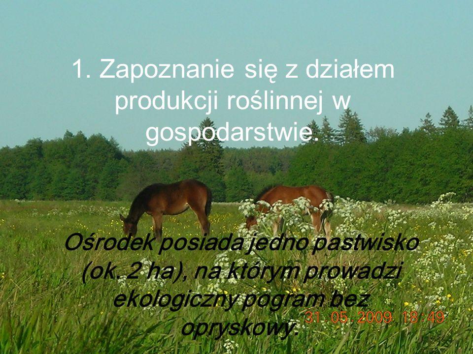 1.Zapoznanie się z działem produkcji roślinnej w gospodarstwie.