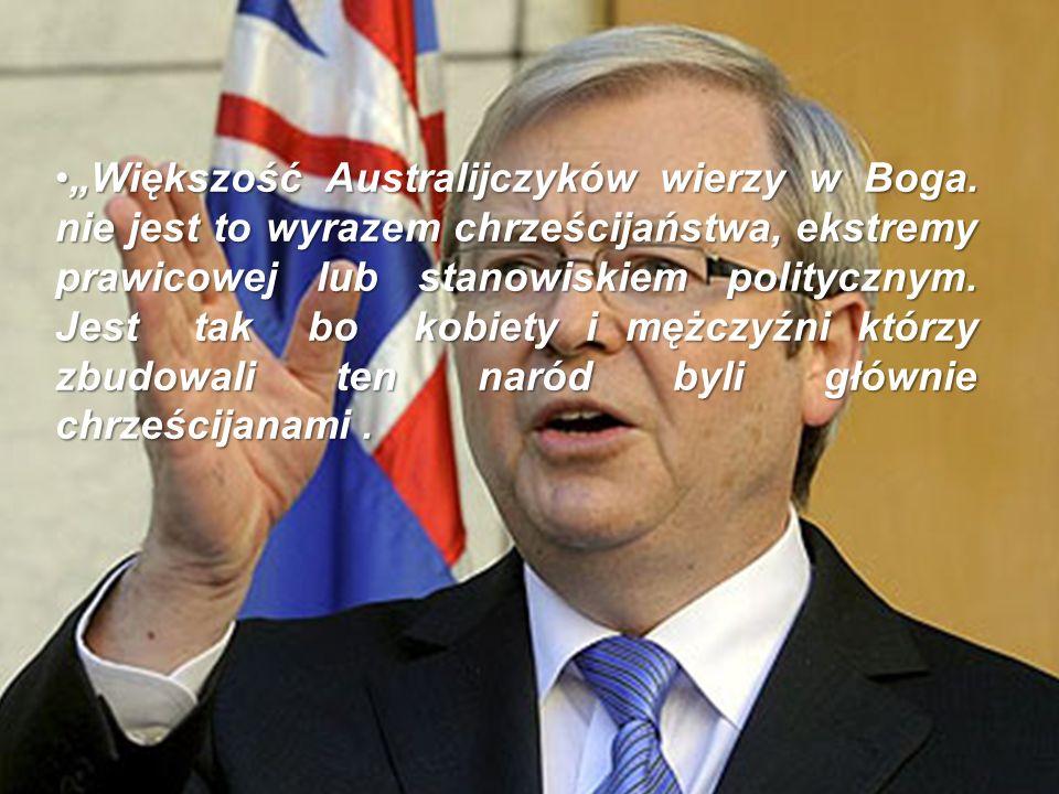 Większość Australijczyków wierzy w Boga.