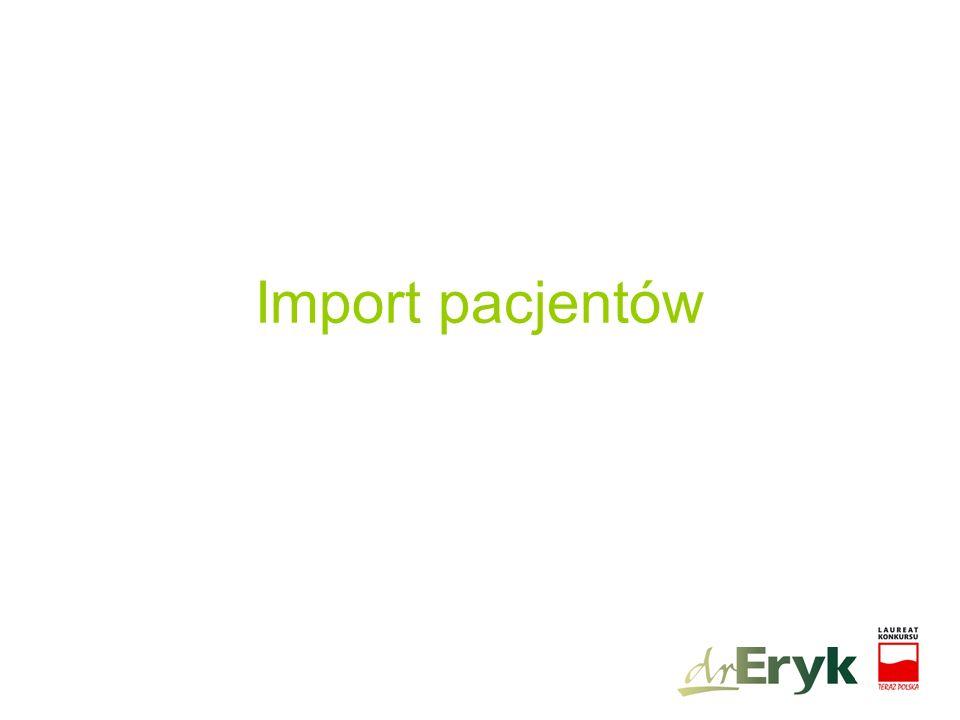 Import pacjentów
