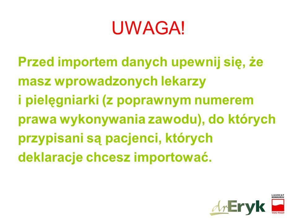 UWAGA.