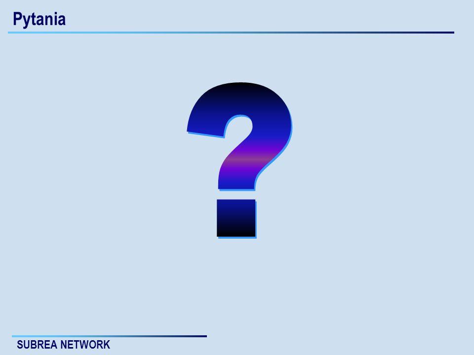 SUBREA NETWORK Pytania