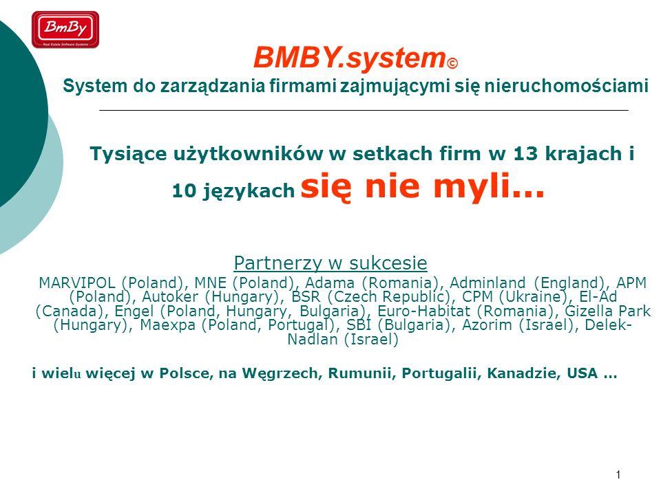 BMBY.system © Międzynarodowy system do zarządzania firmami zajmującymi się nieruchomościami.