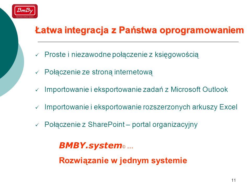 11 Łatwa integracja z Państwa oprogramowaniem Proste i niezawodne połączenie z księgowością Połączenie ze stroną internetową Importowanie i eksportowa