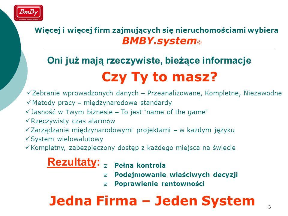 4 Dokładne ceny Sprawna reklama Oszczędność w kosztach komputerowych Wzrost liczby sprzedaży BMBY.system © Ogranicz wydatki – Popraw przepływ – Zwiększ dochód