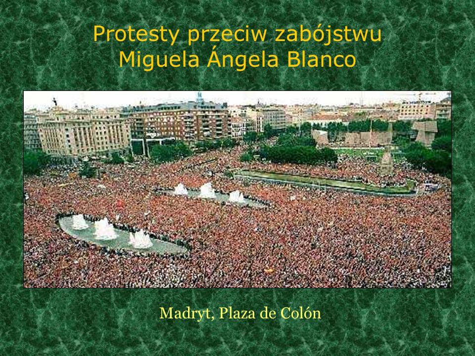 Protesty przeciw zabójstwu Miguela Ángela Blanco Madryt, Plaza de Colón