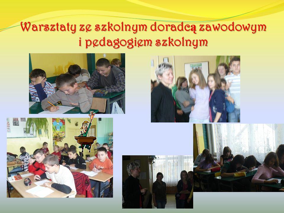 Warsztaty ze szkolnym doradc ą zawodowym i pedagogiem szkolnym