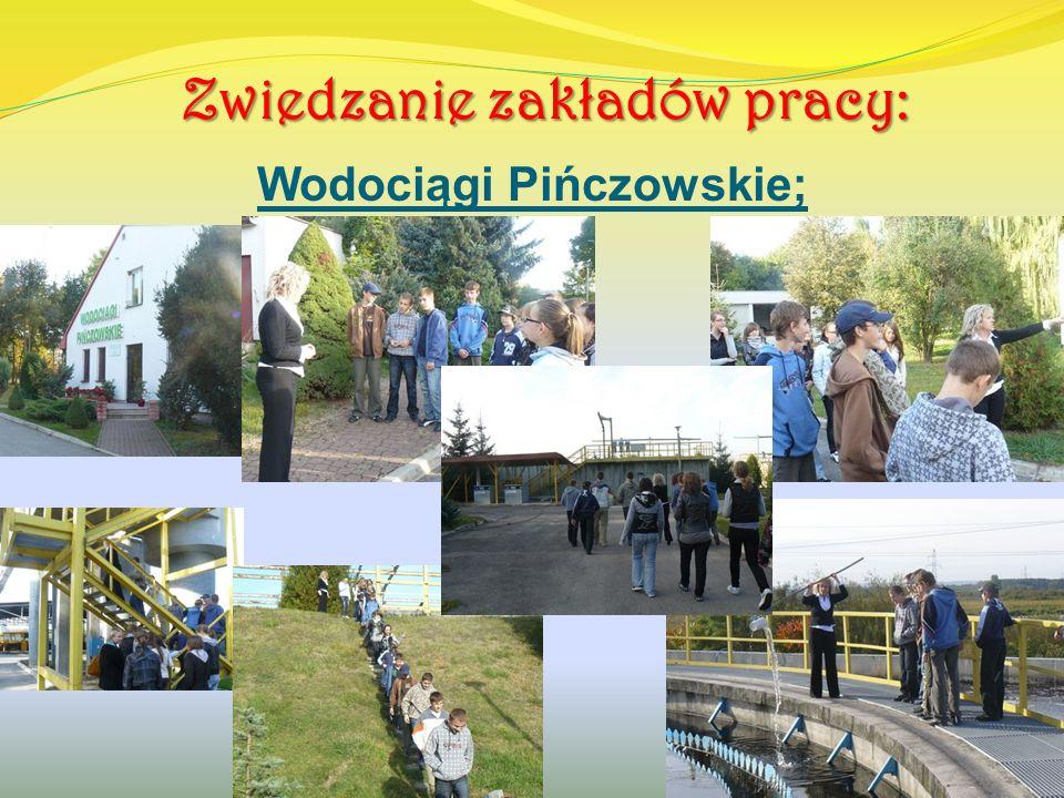 Zwiedzanie zakładów pracy: Wodociągi Pińczowskie;