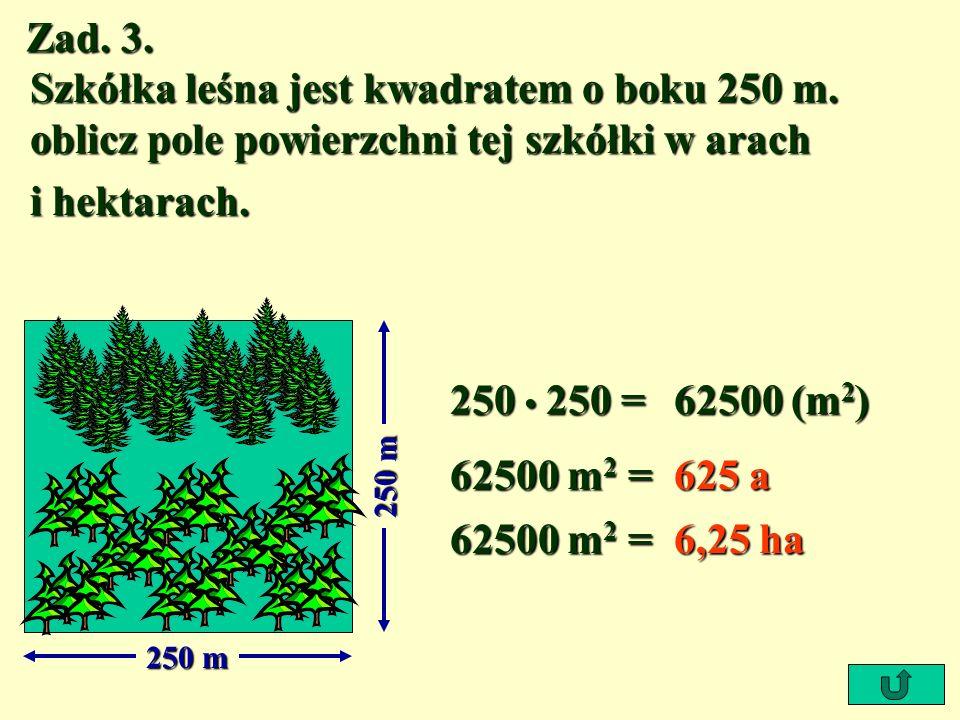 Zad. 2. Tereny zielone o powierzchni 30 m 2 wydzielają w ciągu roku tyle tlenu, ile w tym czasie wystarcza do oddychania dla jednej osoby. Oblicz, dla
