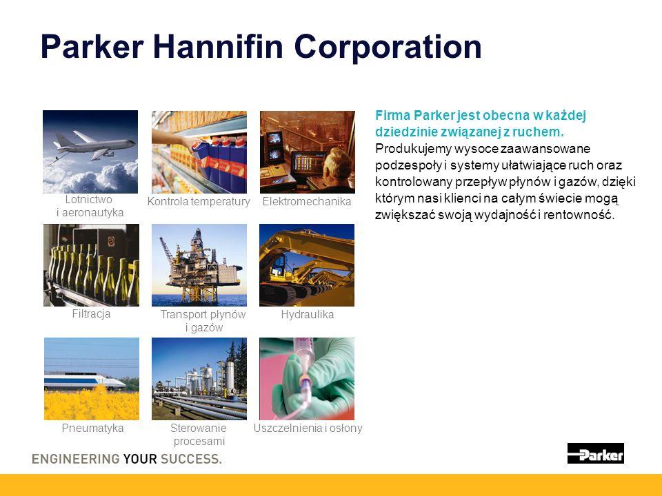 Parker Hannifin Corporation Firma Parker jest obecna w każdej dziedzinie związanej z ruchem. Produkujemy wysoce zaawansowane podzespoły i systemy ułat