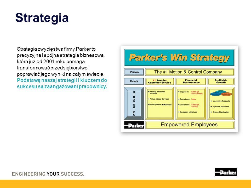 Strategia Strategia zwycięstwa firmy Parker to precyzyjna i spójna strategia biznesowa, która już od 2001 roku pomaga transformować przedsiębiorstwo i