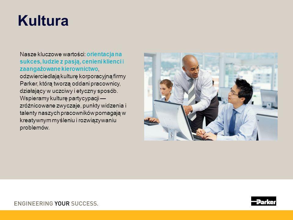 Kultura Nasze kluczowe wartości: orientacja na sukces, ludzie z pasją, cenieni klienci i zaangażowane kierownictwo, odzwierciedlają kulturę korporacyj