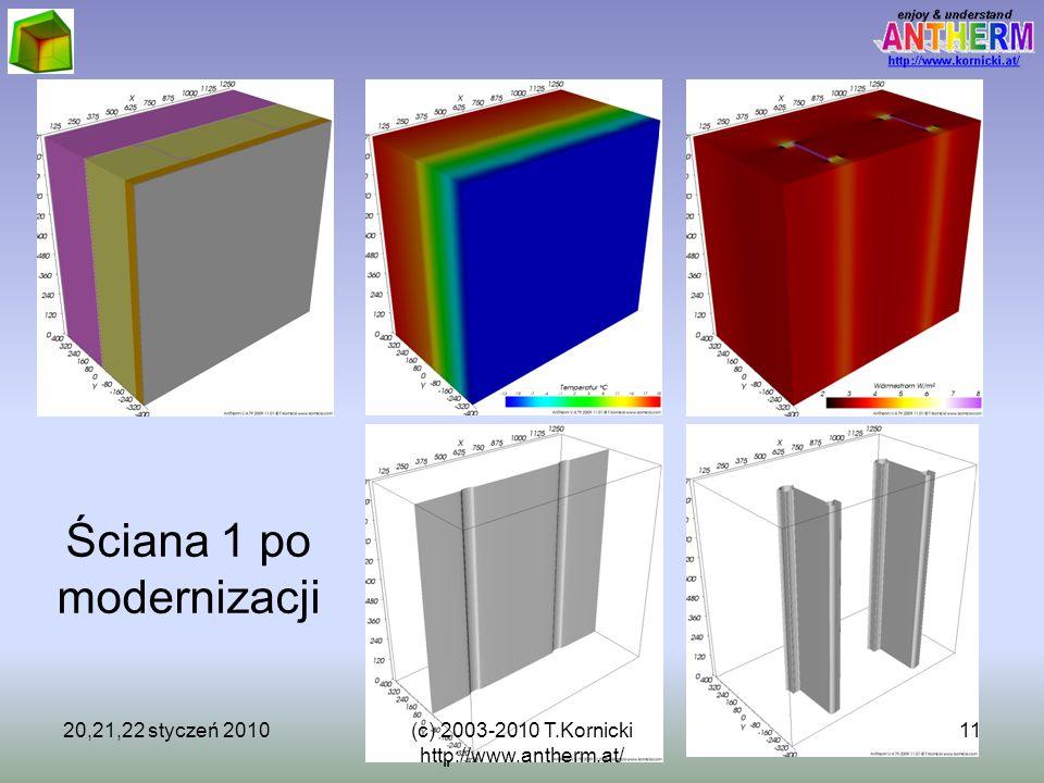 (c) 2003-2009 T.Kornicki http://www.kornicki.at/ 11 Ściana 1 po modernizacji 20,21,22 styczeń 201011(c) 2003-2010 T.Kornicki http://www.antherm.at/