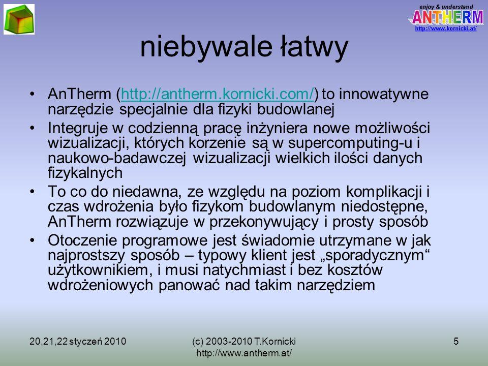 20,21,22 styczeń 2010(c) 2003-2010 T.Kornicki http://www.antherm.at/ 5 niebywale łatwy AnTherm (http://antherm.kornicki.com/) to innowatywne narzędzie