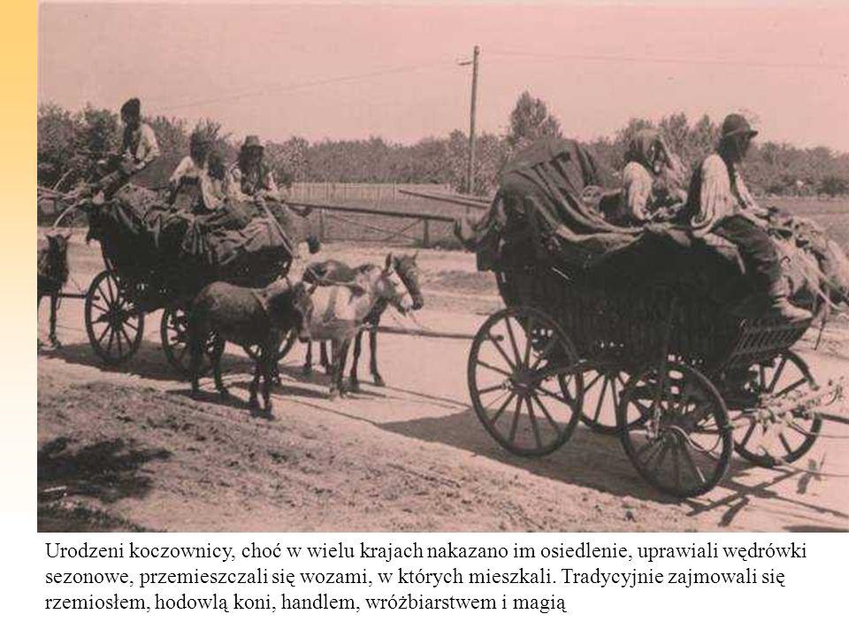Urodzeni koczownicy, choć w wielu krajach nakazano im osiedlenie, uprawiali wędrówki sezonowe, przemieszczali się wozami, w których mieszkali. Tradycy