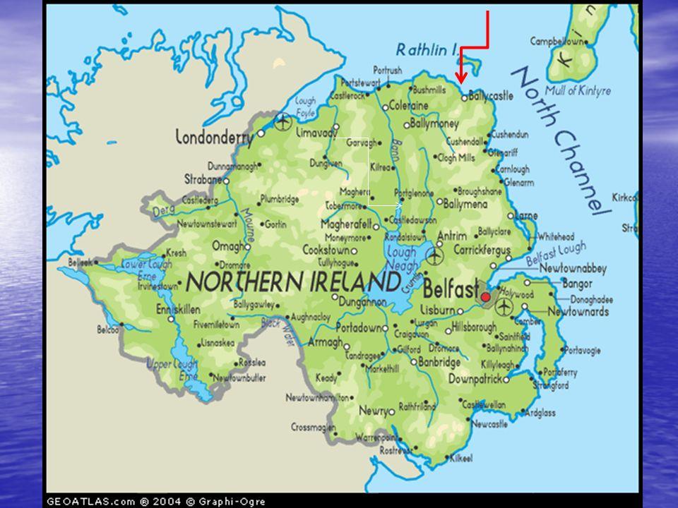 Grobla Olbrzyma (także: Droga Olbrzymów, ang. Giant's Causeway, irl. Clochán nabhFómharach) Północne wybrzeże hrabstwa Antrim, na zachód od Ballycastl