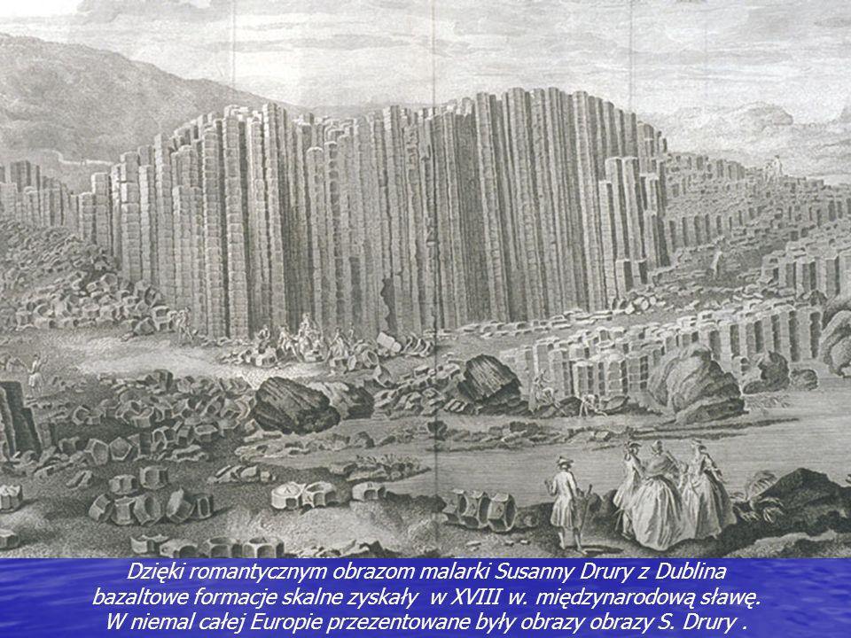 Oryginalna formacja skalna odkryta została w roku 1692 przez ówczesnego biskupa miasta Derry. Giants Causeway (Grobla Olbrzyma) po raz pierwszy został