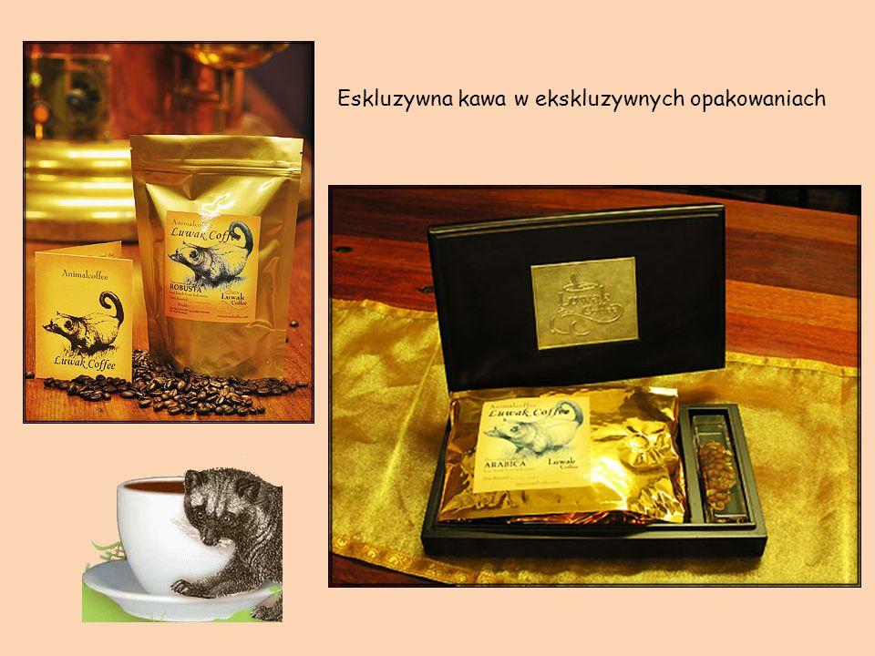 Z ziaren kawy, fermentowanych przy pomocy niczego nieświadomej cywety, uzyskuje się unikalny napar: gęsty prawie jak syrop, aksamitny, o bogatym smaku