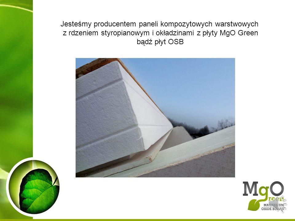 Jesteśmy producentem paneli kompozytowych warstwowych z rdzeniem styropianowym i okładzinami z płyty MgO Green bądź płyt OSB
