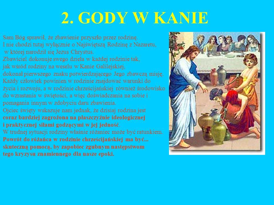 2.GODY W KANIE Sam Bóg sprawił, że zbawienie przyszło przez rodzinę.