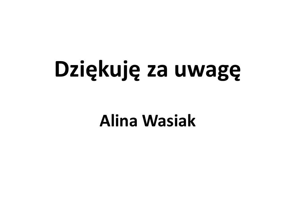 Dziękuję za uwagę Alina Wasiak