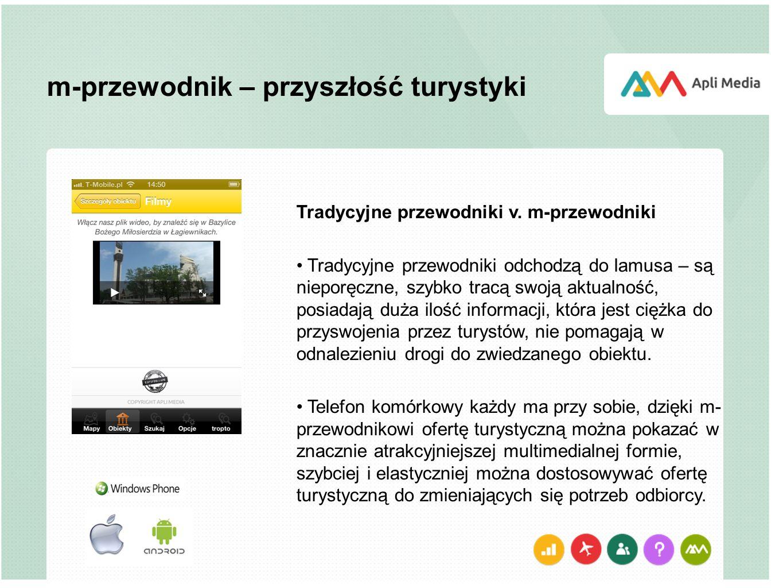 m-przewodnik – przyszłość turystyki Tradycyjne przewodniki v.