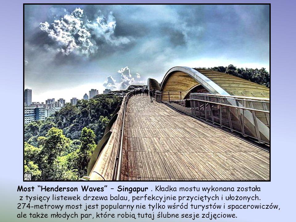 Most Henderson Waves to najwyższy most dostępny dla pieszych w Singapurze. Znajduje się on w Southern Rides, w pięknym 9-kilometrowym paśmie ogrodów i