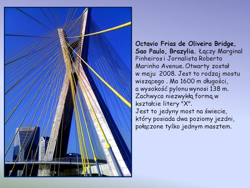 Octavio Frias de Oliveira Bridge, Sao Paulo, Brazylia.