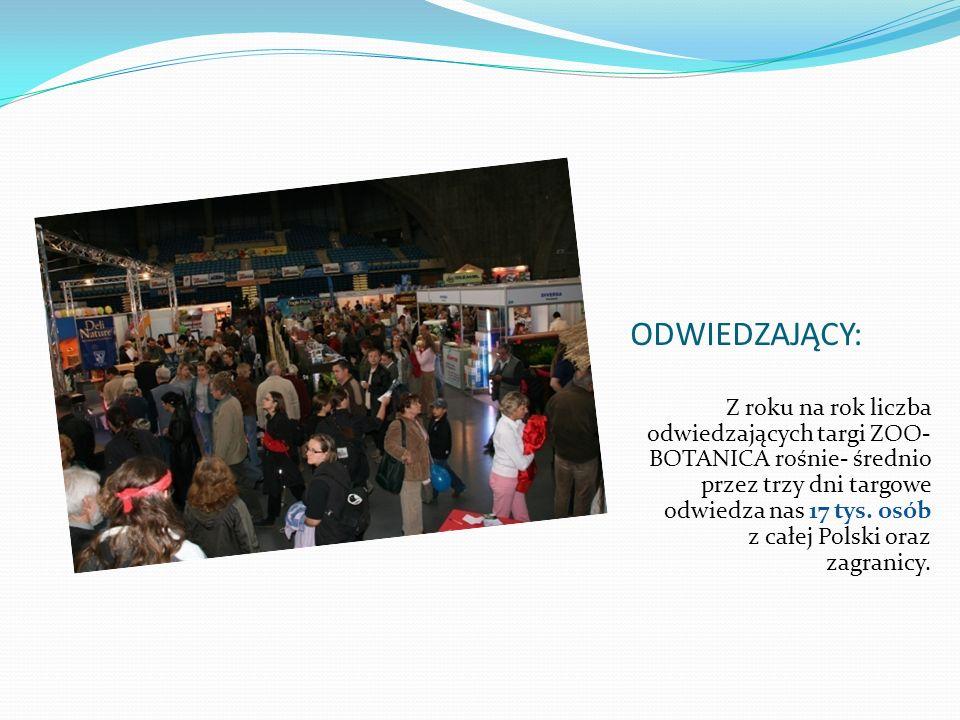 ZNANE FIRMY I NAJLEPSZE MARKI NA RYNKU Wśród wystawców targów ZOO-BOTANICA znaleźli się m.in.: - Aquaszut - Diversa - Tropical - Apport Zootechnika - Vitacraft Polska - Tukan S.C.