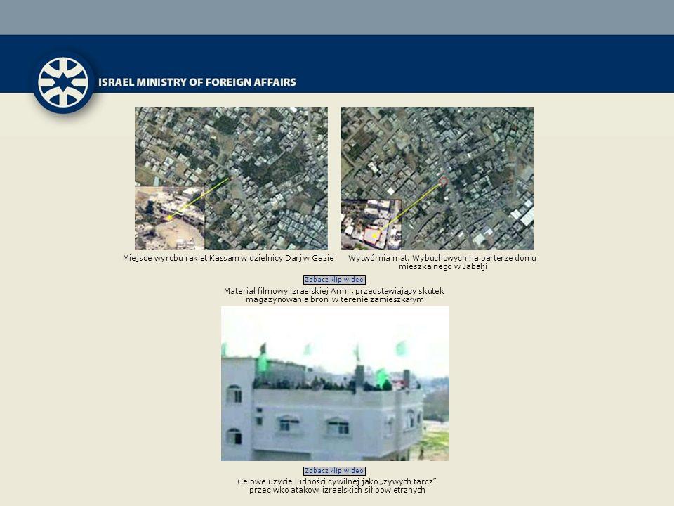 Zobacz klip wideo Miejsce wyrobu rakiet Kassam w dzielnicy Darj w GazieWytwórnia mat. Wybuchowych na parterze domu mieszkalnego w Jabalji Materiał fil