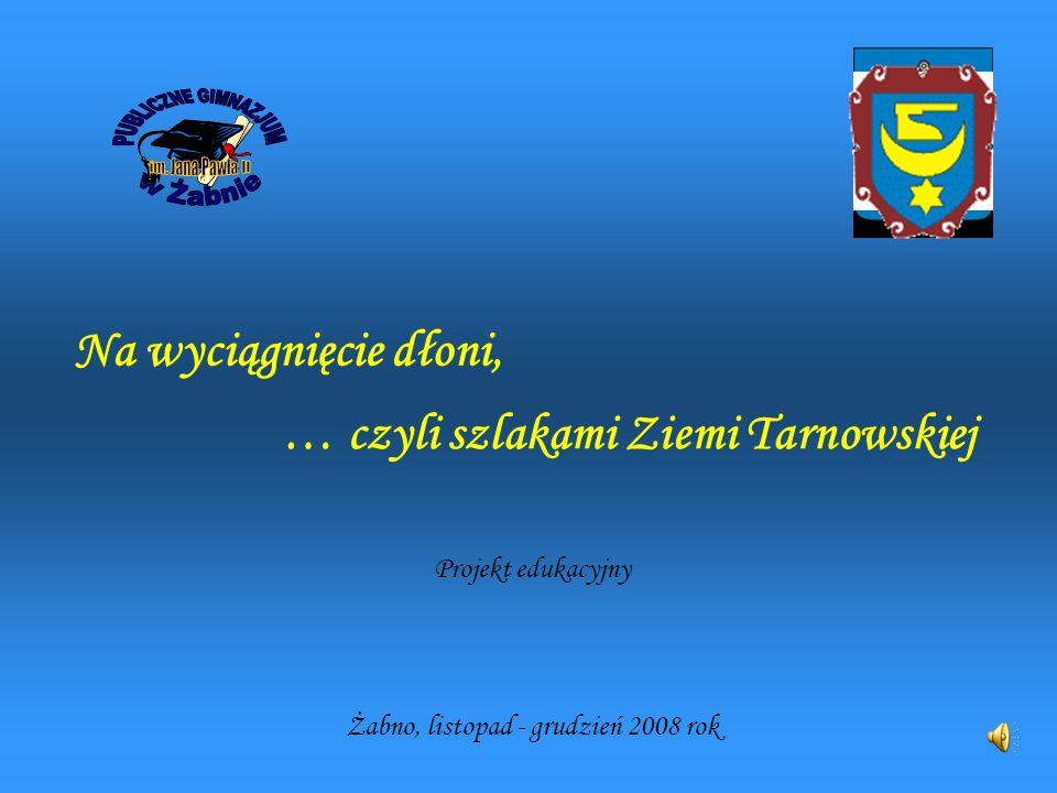 Na wyciągnięcie dłoni, Projekt edukacyjny … czyli szlakami Ziemi Tarnowskiej Żabno, listopad - grudzień 2008 rok