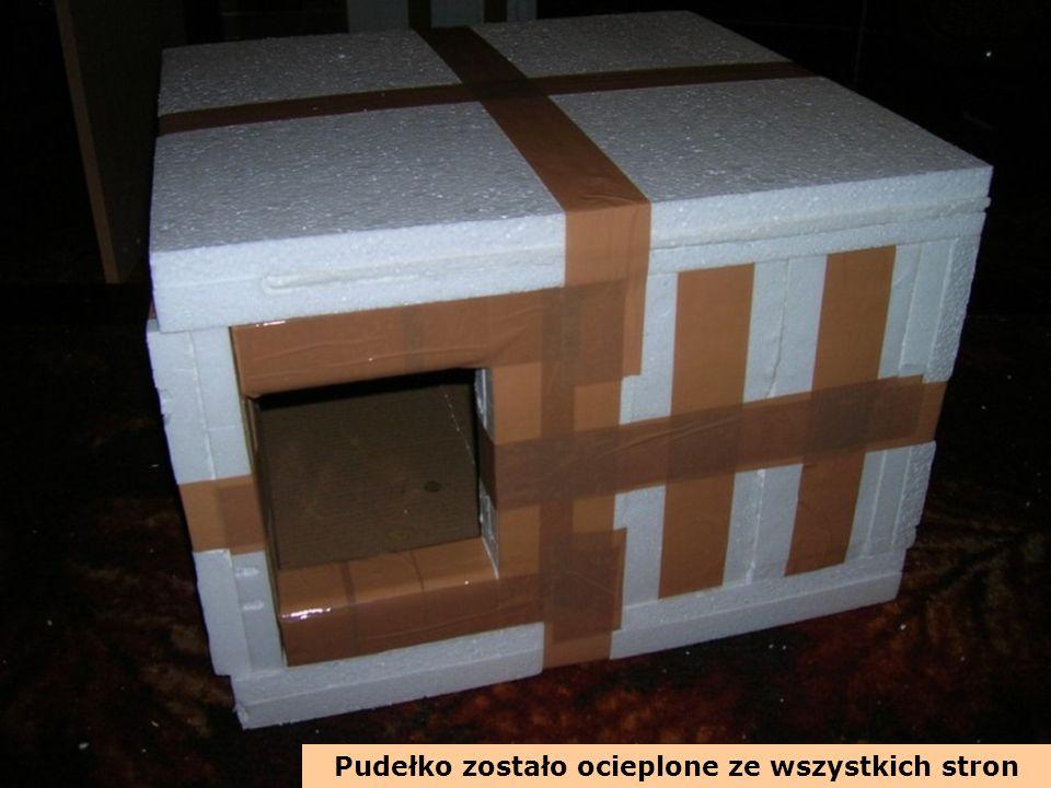 Pudełko zostało ocieplone ze wszystkich stron