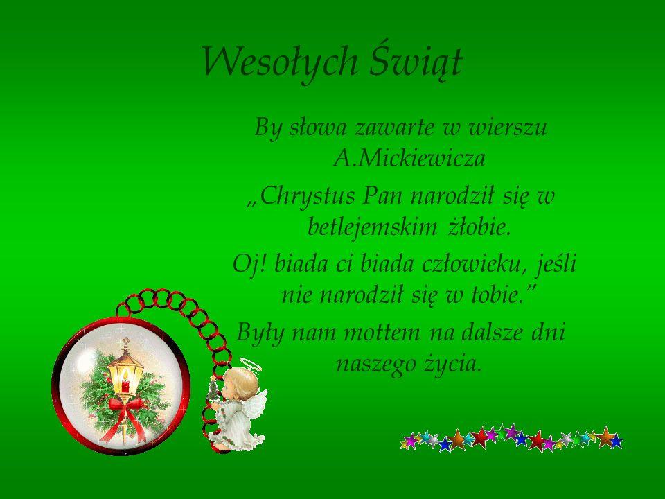 Wesołych Świąt Życzą Uczestnicy i Pracownicy Warsztatów Terapii Zajęciowej w Wałbrzychu