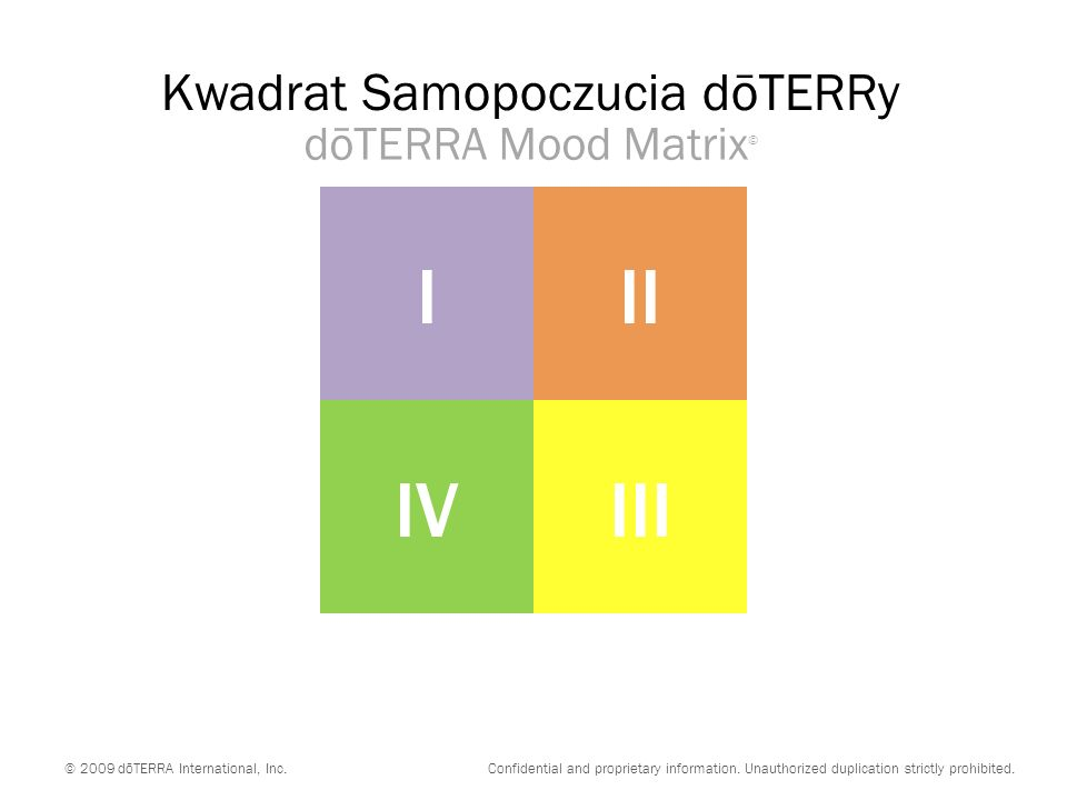 dōTERRA Mood Matrix © © 2009 dōTERRA International, Inc.