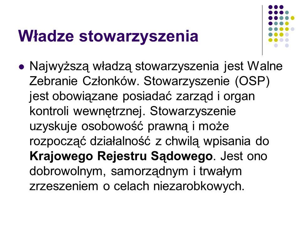 Rachunkowość w OSP ROZPORZĄDZENIE MINISTRA FINANSÓW z dnia 15 listopada 2001 r.