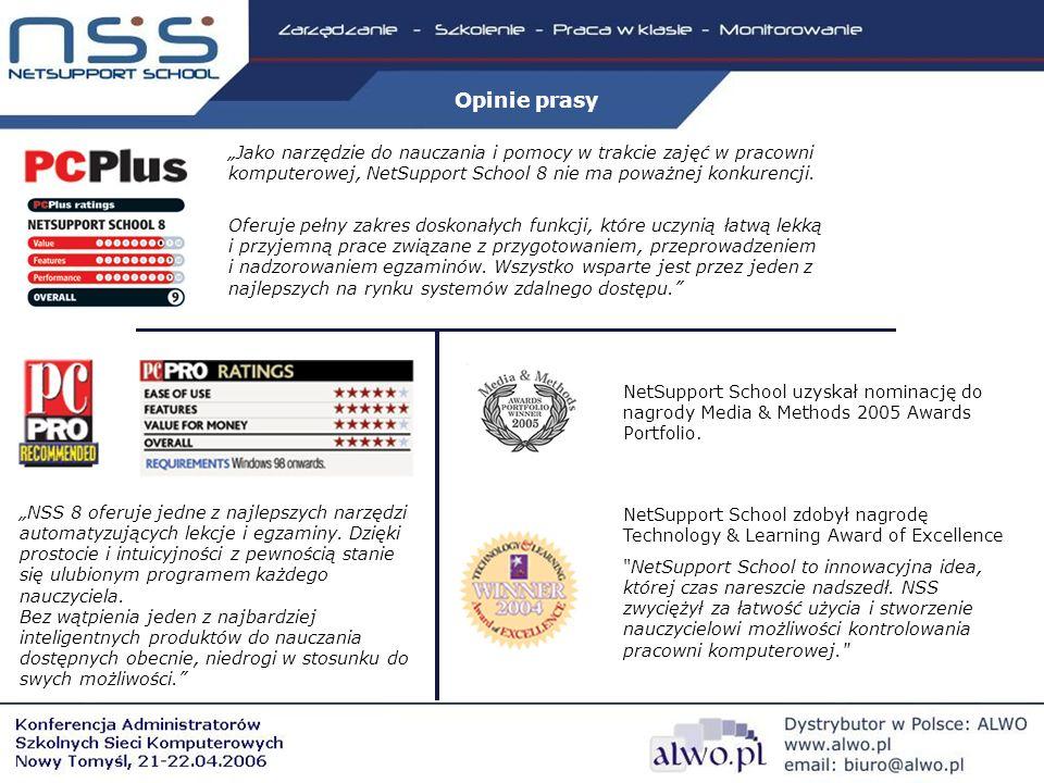 NetSupport School uzyskał nominację do nagrody Media & Methods 2005 Awards Portfolio.