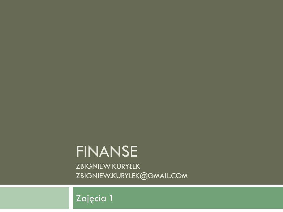 Finanse Finanse jako zjawisko ekonomiczne stanowią podstawową część gospodarki rynkowej.
