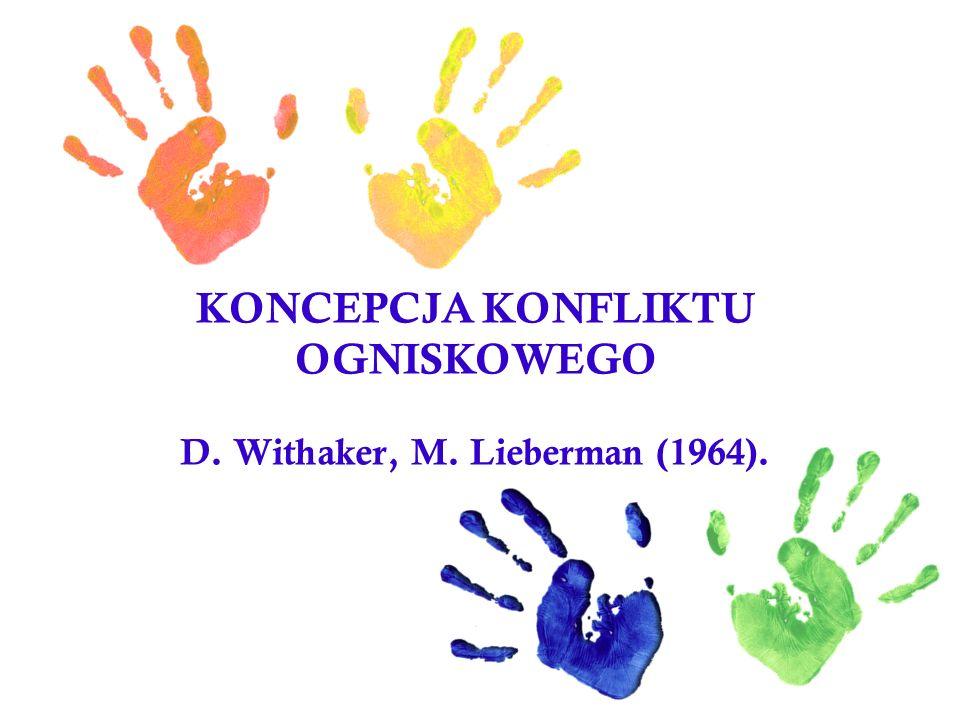 KONCEPCJA KONFLIKTU OGNISKOWEGO D. Withaker, M. Lieberman (1964).