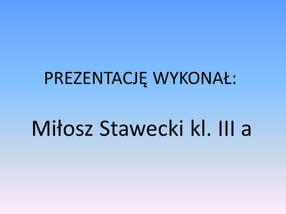 Miłosz Stawecki kl. III a PREZENTACJĘ WYKONAŁ: