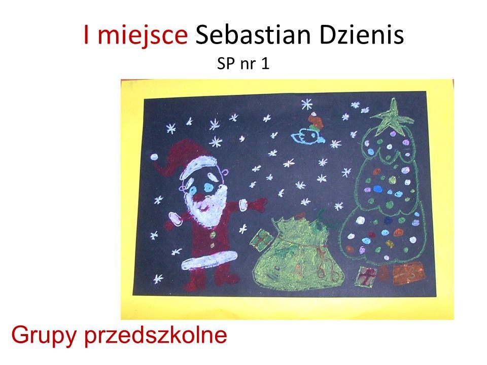 I miejsce Sebastian Dzienis SP nr 1 Grupy przedszkolne