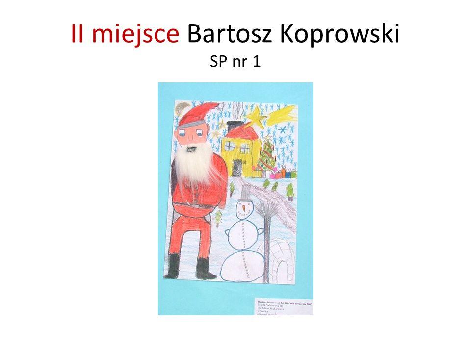 II miejsce Bartosz Koprowski SP nr 1