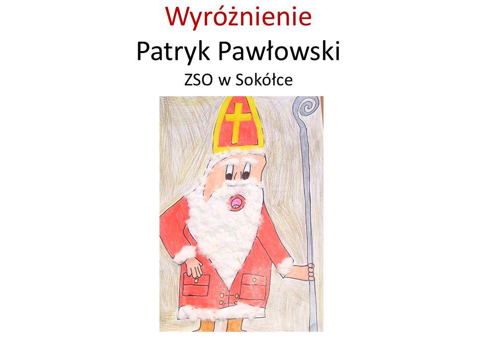 Wyróżnienie Patryk Pawłowski ZSO w Sokółce